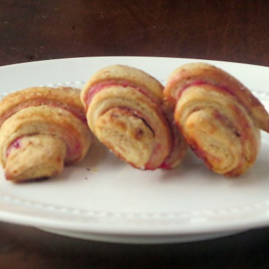Gingerbread Rugelach With Cranberry Jam