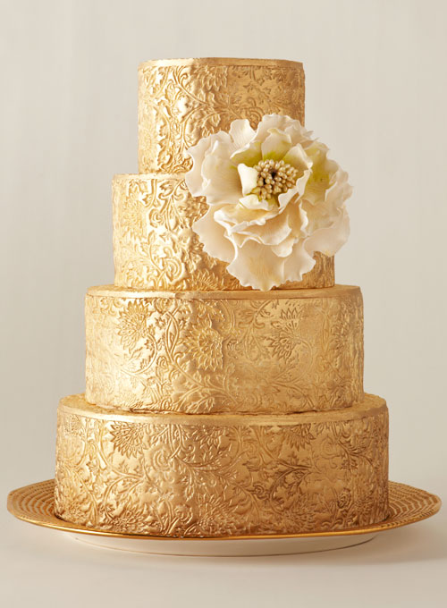 Gold Wedding Cake | The Big Fat Jewish Wedding