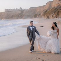 Lux White Wedding Ritz Carlton Half Moon Bay | Clane Gessel Photos 30